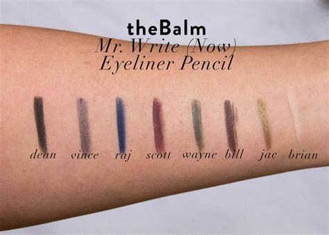 The Balm Mr Write thebalm mr write now eyeliner pencil swatches and review