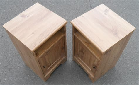sold pair modern pine bedside cabinets