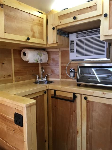 diy  cargo trailer conversion kitchen cargo