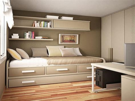 sophisticated small grey bedroom decors with wall cabinet