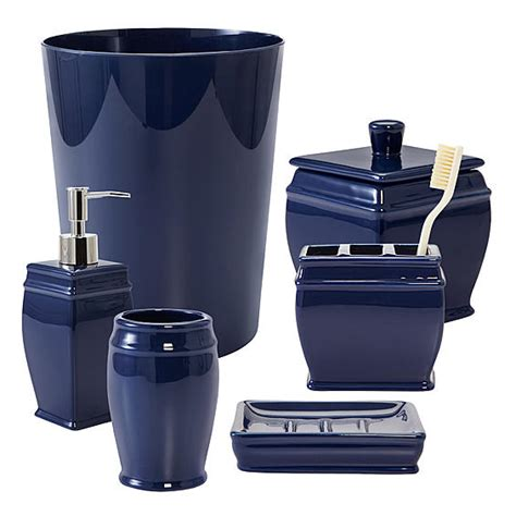 navy bathroom accessories bathroom accessories navy blue folat