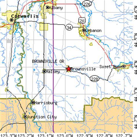 brownsville oregon map brownsville oregon or population data races housing