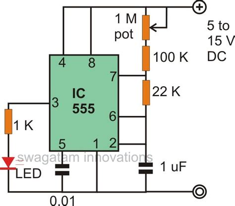 use of capacitor in led circuit make interesting flasher and fader led circuits using ic 555