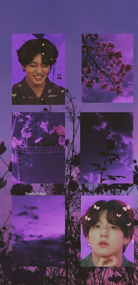 jeon jungkook aesthetic wallpaper lockscreen purple bts