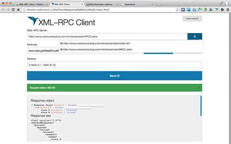 xml rpc xml rpc client chrome web store