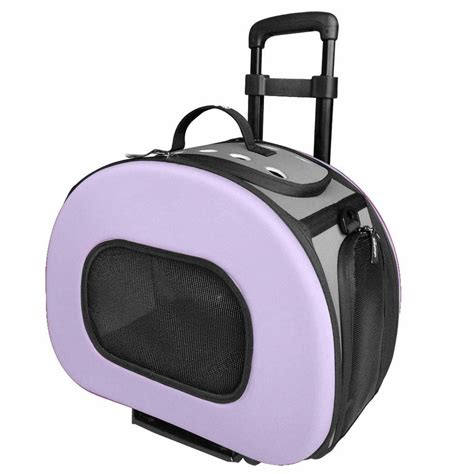 rolling carrier pet tough shell wheeled collapsible destination pet carrier b51plmd the