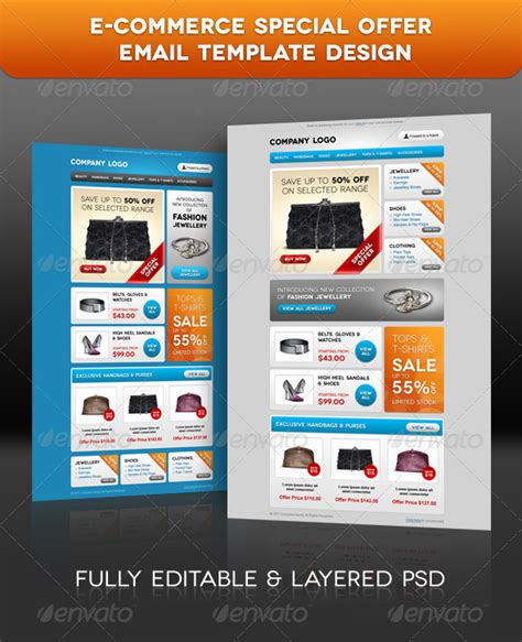 envato email templates e commerce special offer email template design graphicriver
