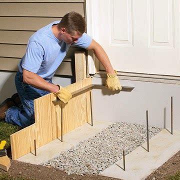 build concrete steps step  step guide