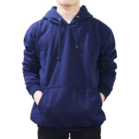 Hoodie Biru Tua sweater hoodie polos biru muda daftar harga terlengkap