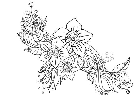 line art tattoos floral commission line by digitalstencil on