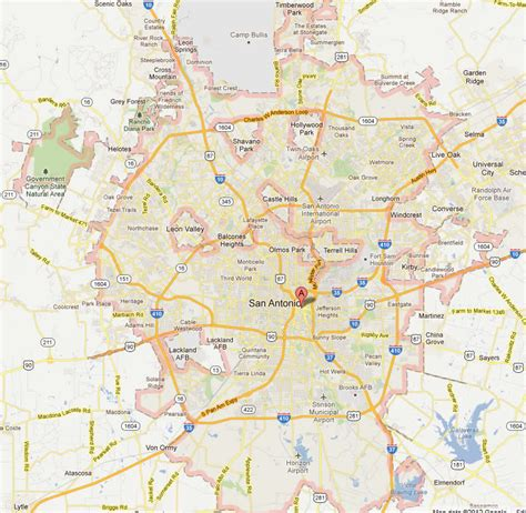 san antonio texas city map san antonio texas map and san antonio texas satellite image