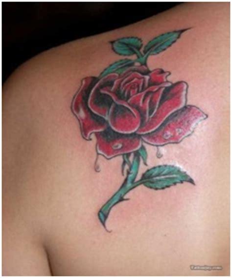 single red rose tattoo best flower tattoos design for orchidsplus