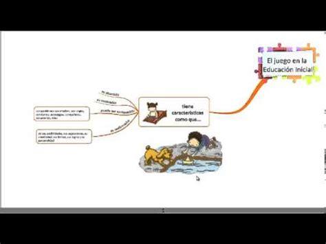 lectura mapa mental juego en la educaci 243 n inicial youtube