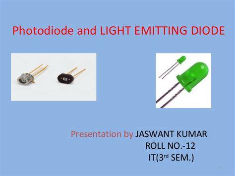 light emitting diode working ppt analog electronics ppt on photo diodes and led by being topper
