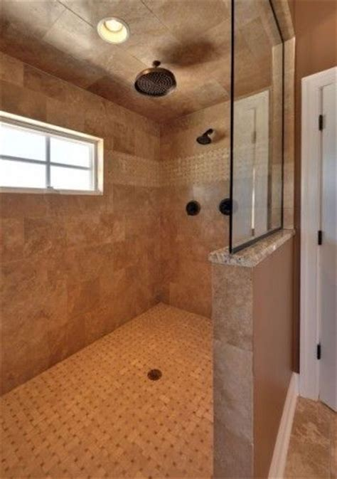 Walk In Shower With No Door Shower Tile Design For Master Bath Bathrooms Window And Doors