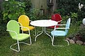 retro style outdoor furniture best 25 vintage metal chairs ideas on metal