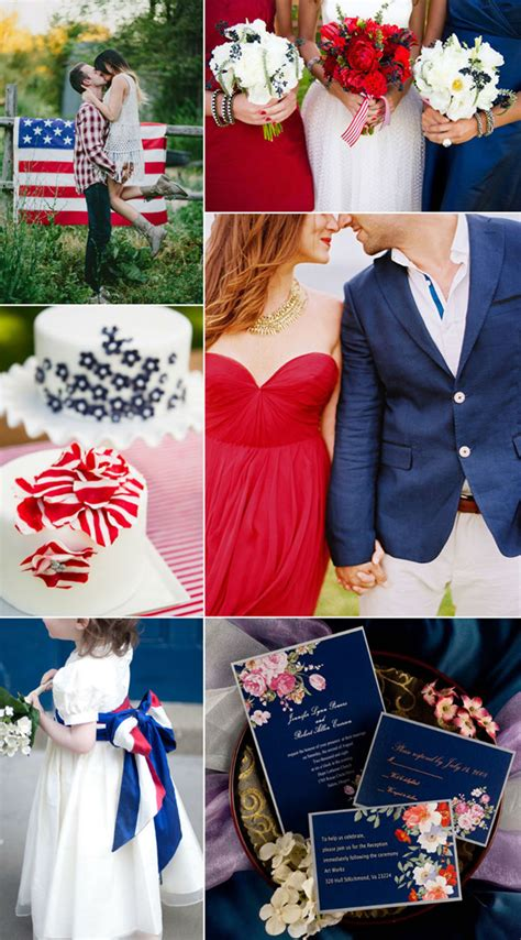 fourth of july inspired wedding ideas with white and navy wedding colors