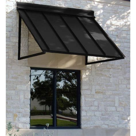 home depot window awnings beauty mark 3 ft houstonian metal standing seam awning