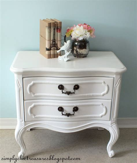 White Provincial Nightstand simply chic treasures white provincial nightstand