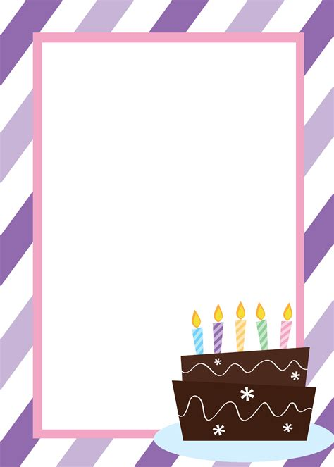 bday templates free printable birthday invitation templates
