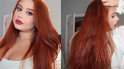 How To Color Black Hair Coppet | how to dye your hair copper red from medium dark brown