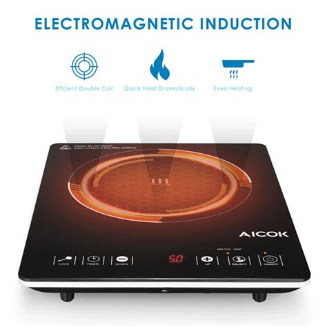 electromagnetic induction grade 11 aicok bt c20 1500w portable induction cooktop a new fast kitchen utensil for completing