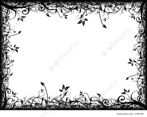 floral grunge frame vector stock vector illustration of illustration 1792578 templates abstract floral frame on white stock illustration i1587509 at featurepics