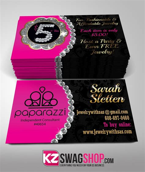 Free Paparazzi Business Card Template by Paparazzi Jewelry Business Cards Style 8 Paparazzi