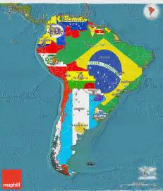 image of south america map flag 3d map of south america satellite outside
