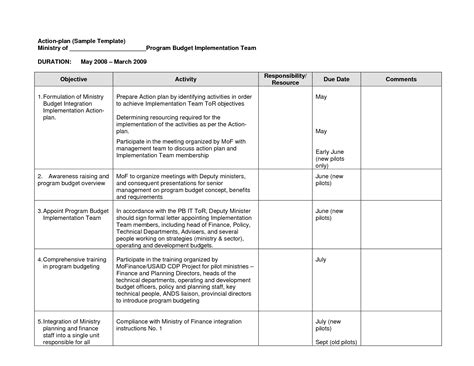 Action Plan Sle Template Monitoring And Evaluation Pinterest Template And Planners Monitoring Plan Template