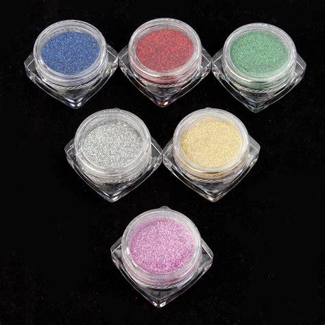 rainbow light c powder 6 colors glitter rainbow nail powder shiny magic