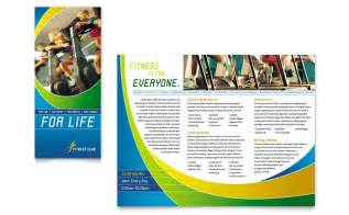 Sports Brochure Templates sports health club brochure template design