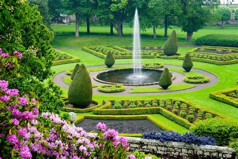 elaborate gardens of dunrobin castle scotland dornoch