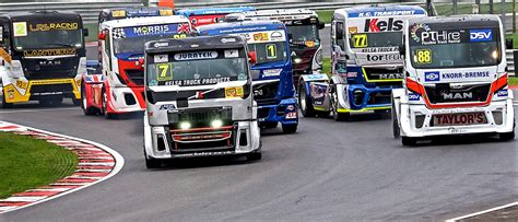 trucks racing brands hatch race event truck racing and fireworks