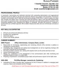 office administrator cv exle forums learnist org