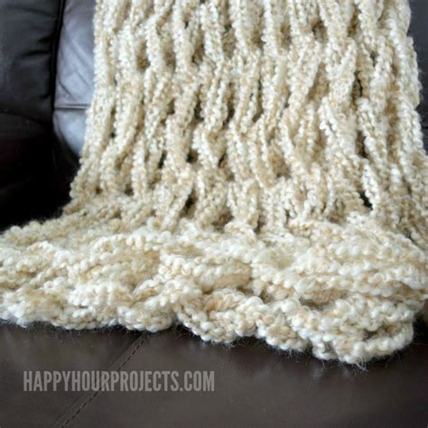 arm knit a blanket arm knitted blanket happy hour projects