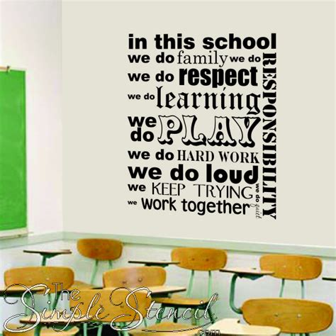 when we get in this room school wall lettering decals simple stencils