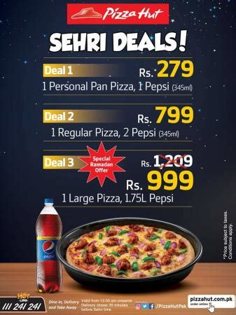 pizza hut iftar and sehri deals 2018 food & drink images