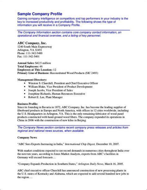 30 Company Profile Sles Templates In Pdf Sle Templates Company Description Template