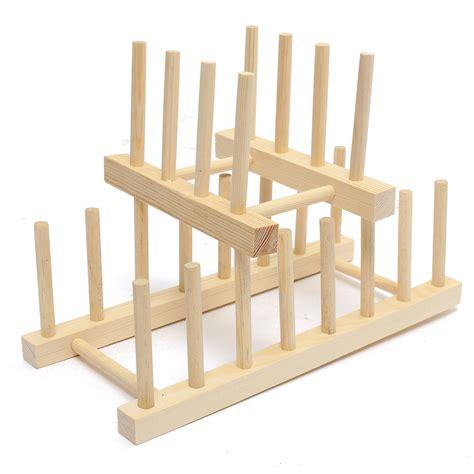 Wooden Dish Rack Australia by Wooden Dish Plate Storage Holders Folding Racks Drying