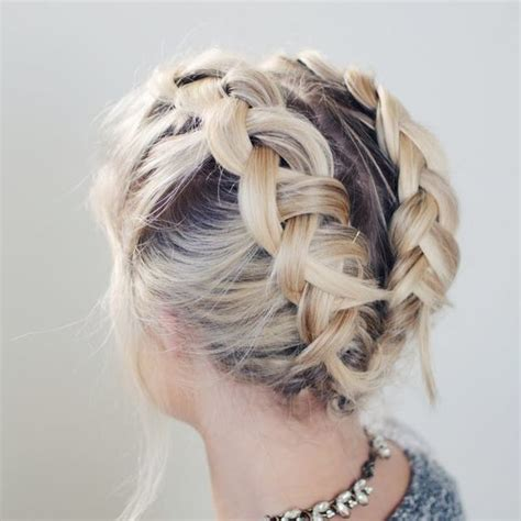 plait hairstyles for short hair dutch braid pigtails best styles for short hair livingly