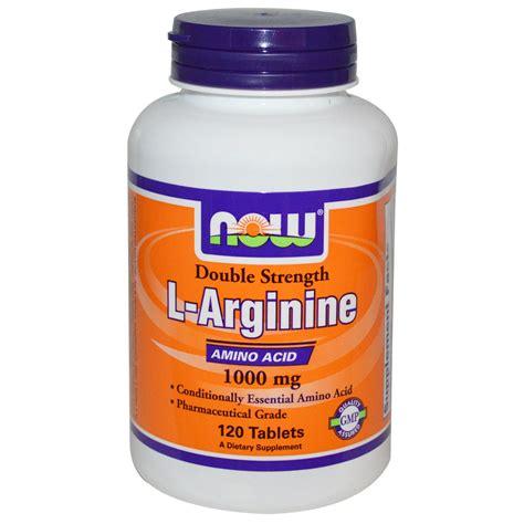 supplement l arginine now foods l arginine 1000 mg 120 tablets iherb