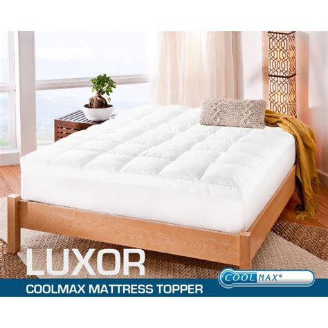 bed toppers amazon king single size coolmax fabric mattress topper pad buy