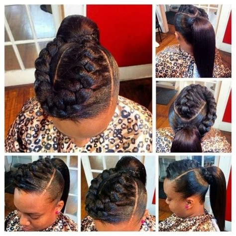 hairstyles for black weave sew in