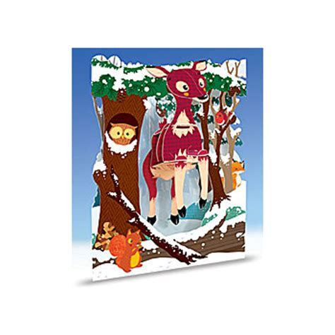 swing cards uk swing card christmas reindeers 3d interative gift card