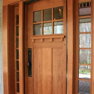 Exterior Door Trim Ideas Cherry Entry Door Accented By Craftsman Hardware Wood