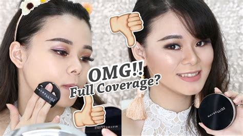 Bedak Maybelline Cushion Ultra Cover new maybelline ultra cover cushion review try it