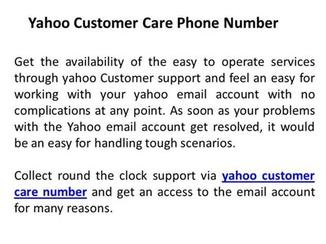 email of yahoo customer care yahoo customer care phone number for access email account