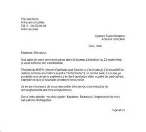 Lettre De Motivation Visa De Travail Cover Letter Exle Exemple De Lettre De Motivation Travail