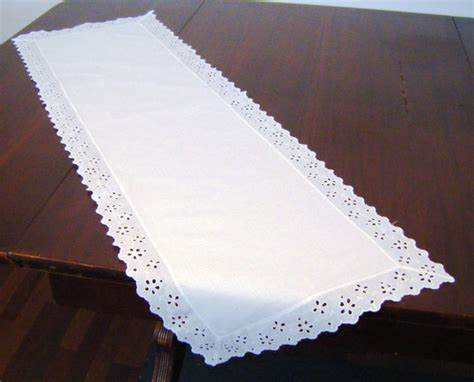 Table Runner For Dresser by Vintage White Eyelet Table Runner Dresser By